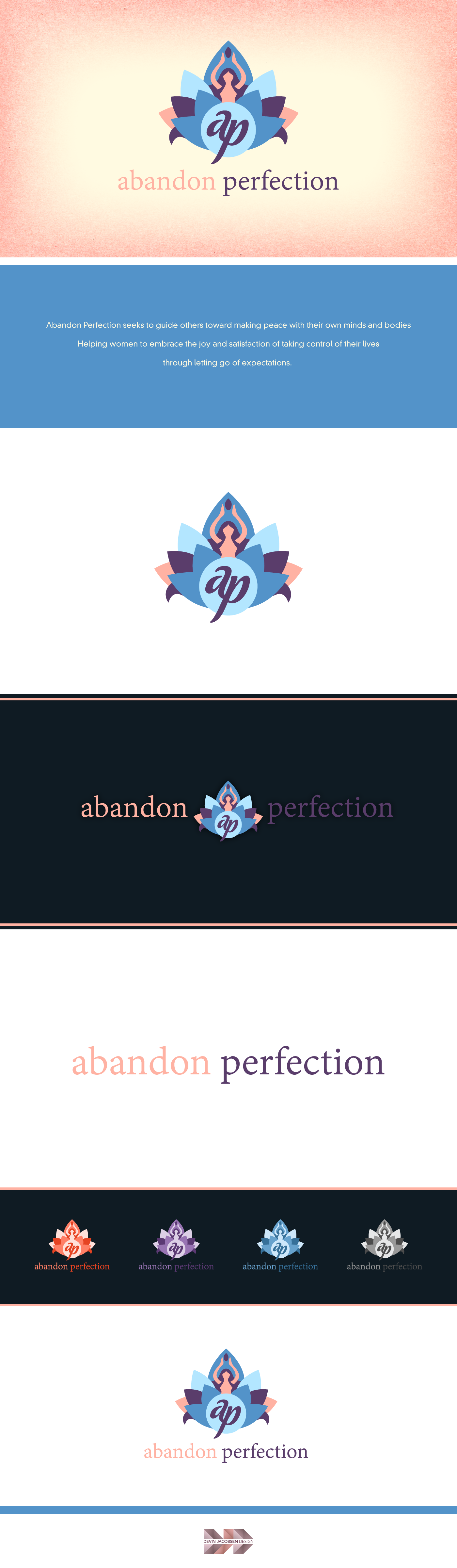 Extremely yonic logo for Abandon Perfection life coaching service.