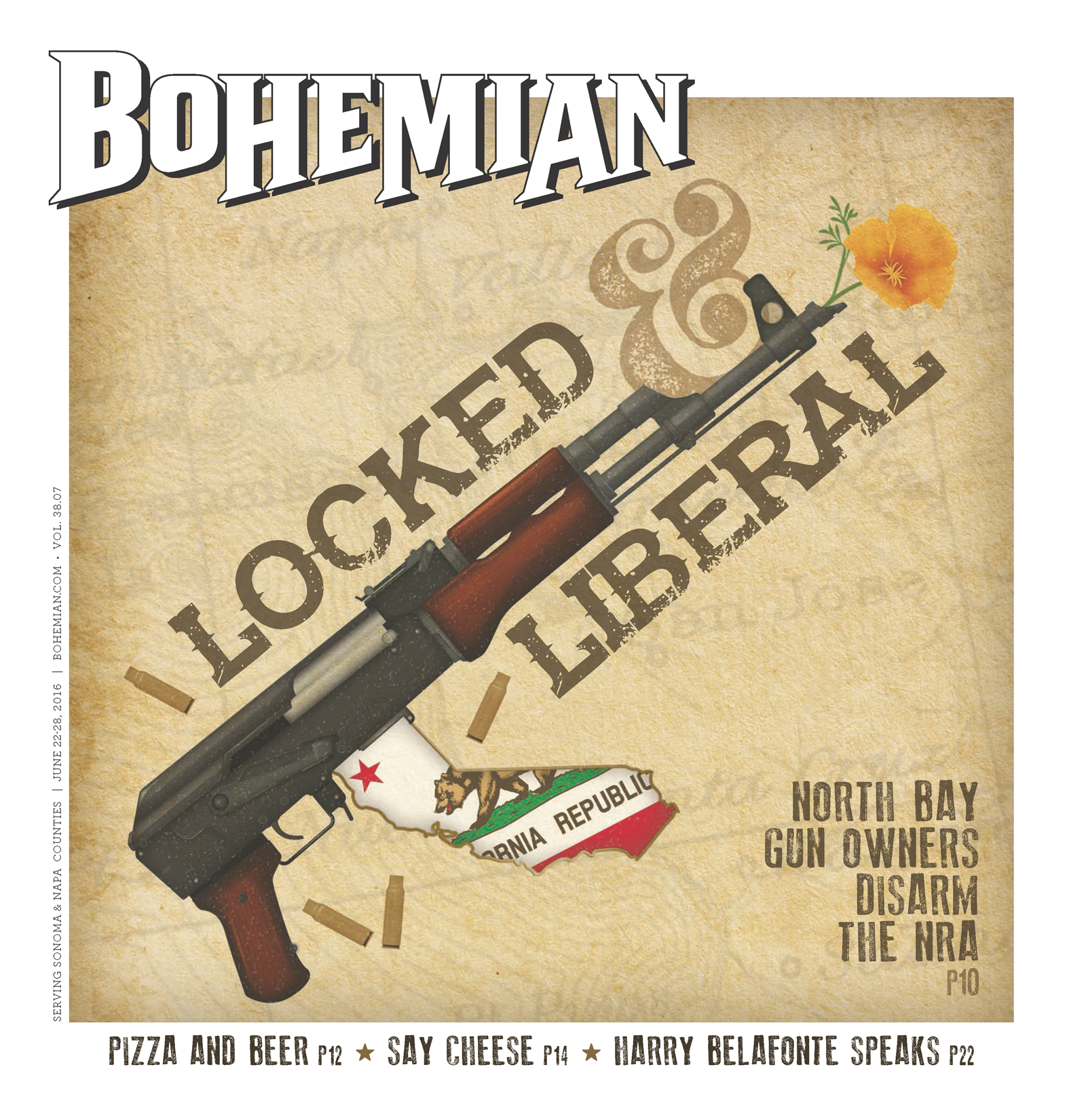 Weekly magazine with California gun rights cover feature