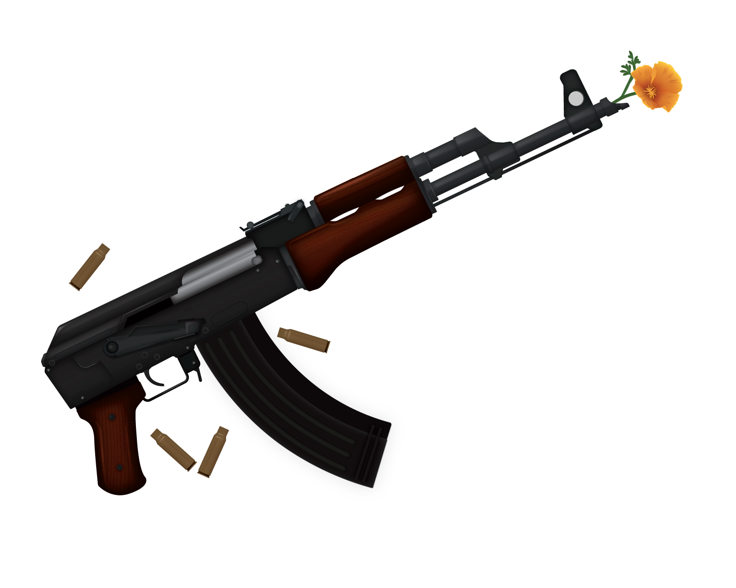 An illustration of an AK-47